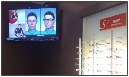 Digital signage in an opticians